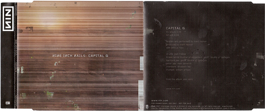 Capital G – UK/EU – 2-track Promo CD | timdotexe\'s nine inch nails ...