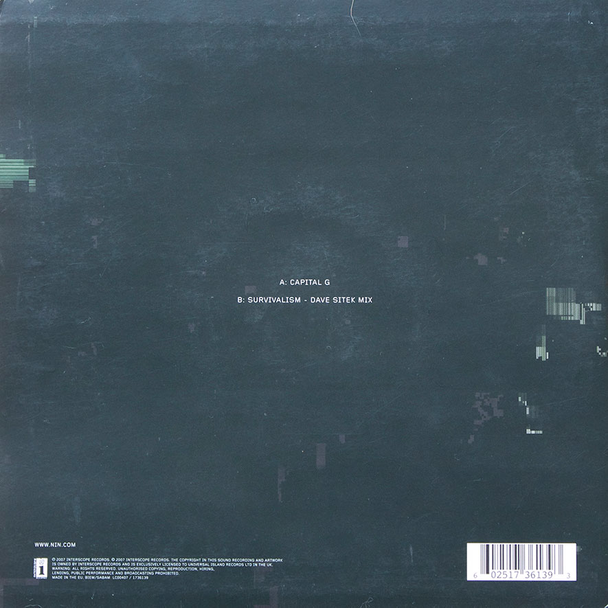 Capital G – 9″ Vinyl – EU | timdotexe\'s nine inch nails collection